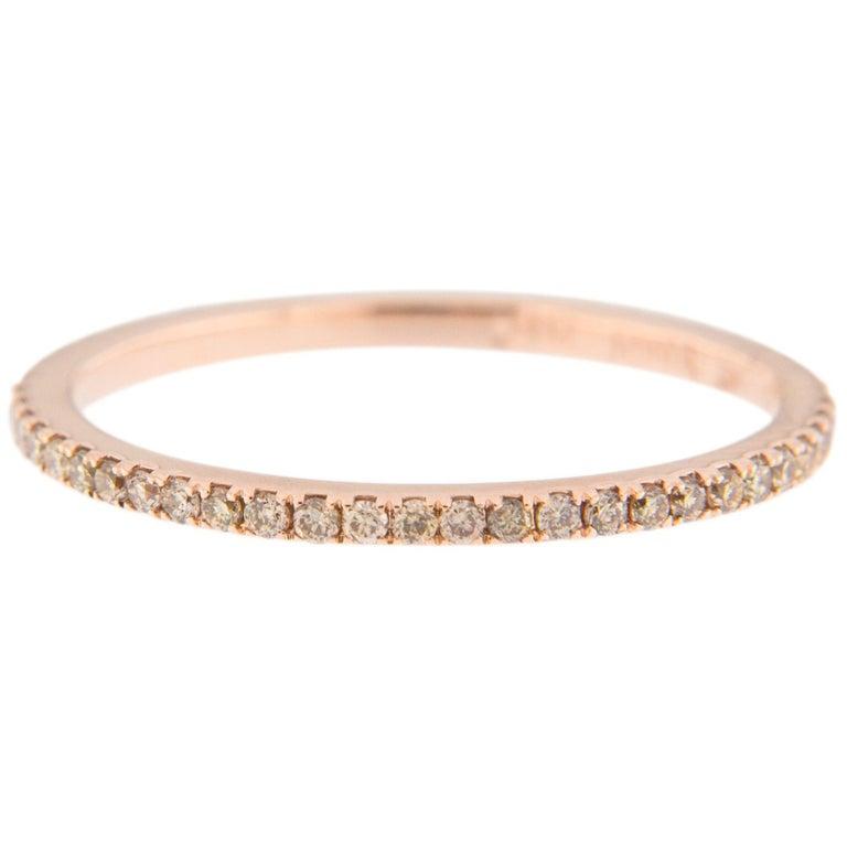 Jona Brown Diamond 18 Karat Rose Gold Eternity Band Ring