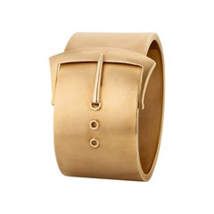 Victorian Wide Gold Buckle Cuff Bracelet