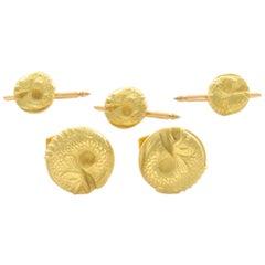 Barry Kieselstein-Cord Fish Cufflink Set in 18 Karat Yellow Gold