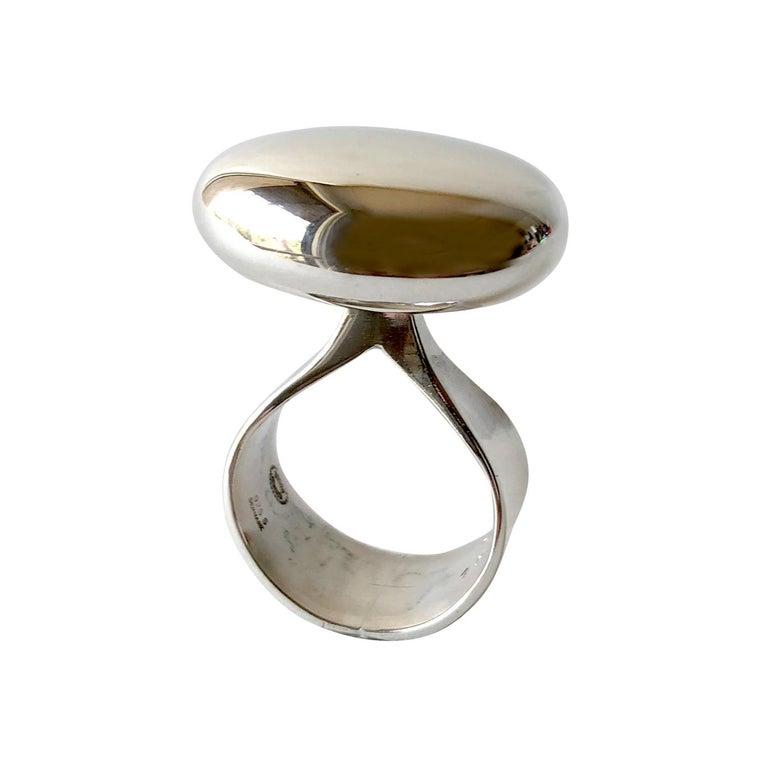 Vivianna Torun for Georg Jensen Sterling Silver Danish Modernist Ring