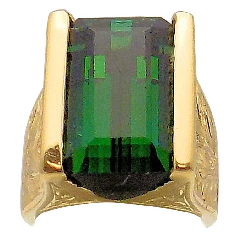 Tourmaline and Diamond Ring For Sale