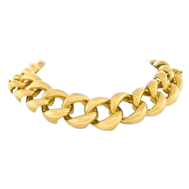 Seaman Schepps Heavy Gold Necklace that converts to Bracelets