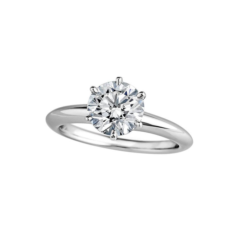 Tiffany & Co. 1.37 Carat Diamond Platinum Engagement Ring For Sale