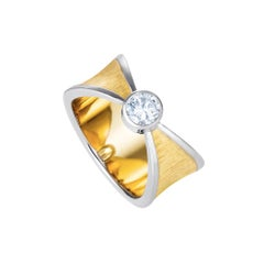 Liv Luttrell Cross over White Gold, Yellow Gold and Diamond Ring