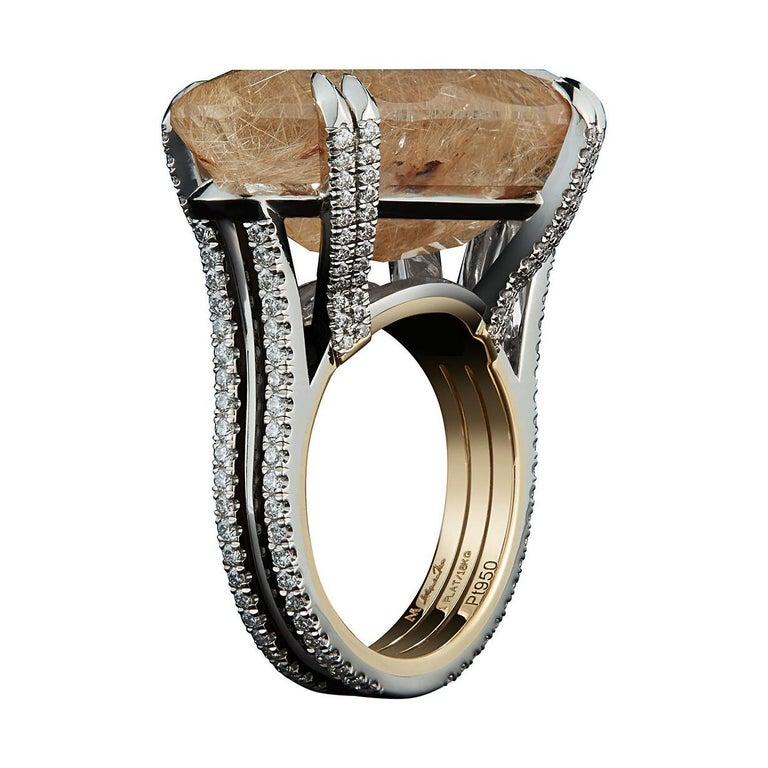 Alexandra Mor Oval Cut Quartz Cabochon and Diamond Ring