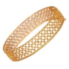 Yellow Gold 18 Karat Cuff Bracelet
