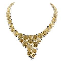 Sapphire Drop Necklaces