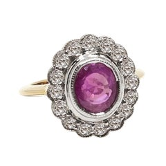2.24 Carat Burmese Ruby and Diamond Ring, circa 1940