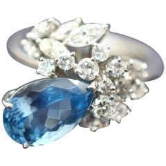 H. Stern Santa Maria Aqua Marine and Diamond Ring 18 Karat