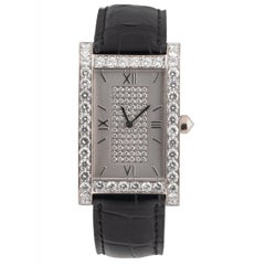 Graff Ladies Wristwatch, 18 Carat White Gold Case with Factory Diamond Set Bezel