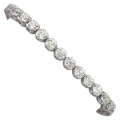 10.01 Carat Diamond White Gold Tennis Bracelet