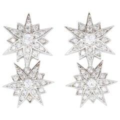 0.42 Carat Star Diamond Earrings