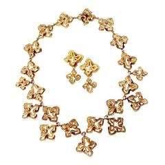 Chaumet Fabulous Gold Necklace and Earring Suite
