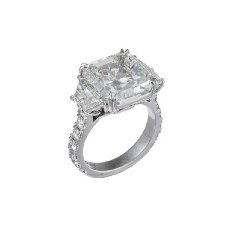 Magnificent 10.08 Radiant Cut Diamond Ring