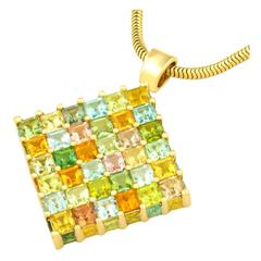 Brilliantly Contemporary H. Stern Tourmaline Pendant