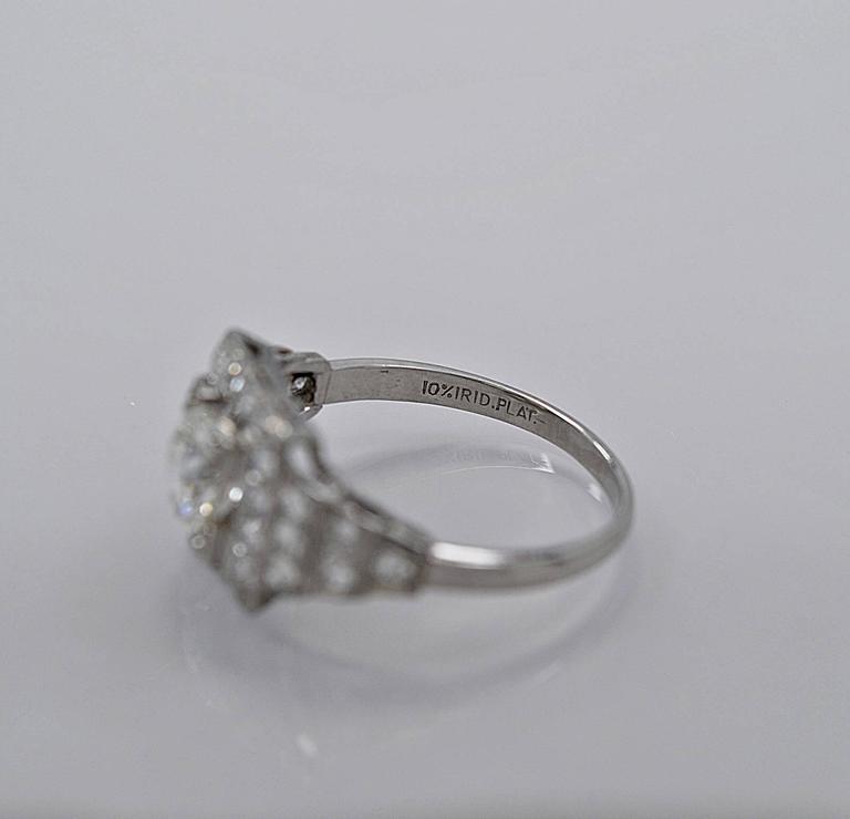 beautiful deco 94ct platinum engagement ring