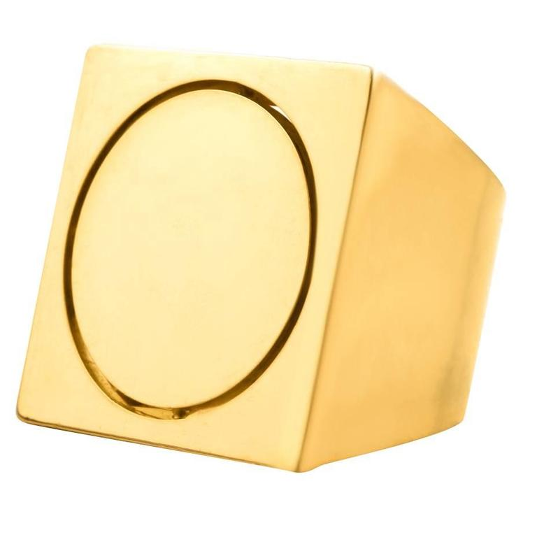 Modernist Gold Ring by Kurt Aepli for Burch For Sale
