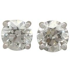 4.86 Carat Diamond Stud Earrings