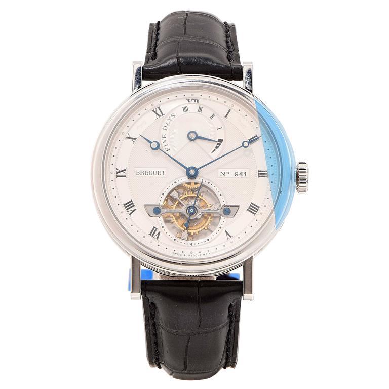 Breguet Platinum Tourbillon Five Day Power Reserve Self winding Wristwatch