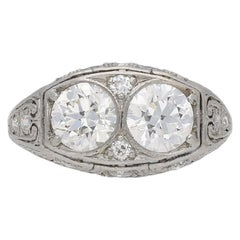 Bailey, Banks & Biddle 1920s Two-Stone Diamond Ring