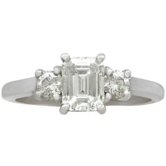 Contemporary 1.34 Carat Diamond White Gold Ring