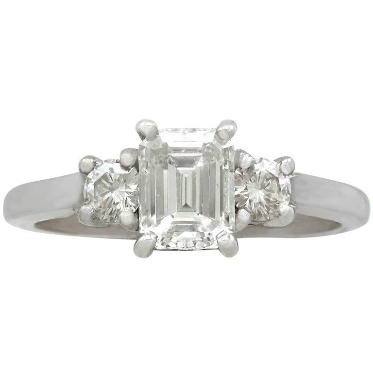 Contemporary 1.34 Carat Diamond White Gold Ring