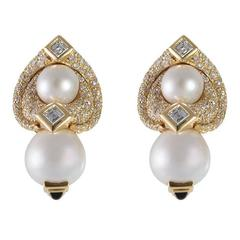 Marina B. Loreto 1988 Pearls Diamonds Yellow Gold
