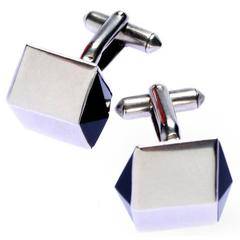 Antonio Pineda  Modernist Geometric Sterling Silver Cufflinks