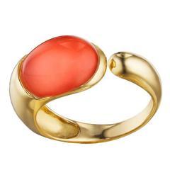 Faraone Mennella Coral Gocce Gold Ring