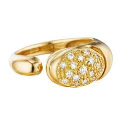 Faraone Mennella Diamond Gold Gocce Ring