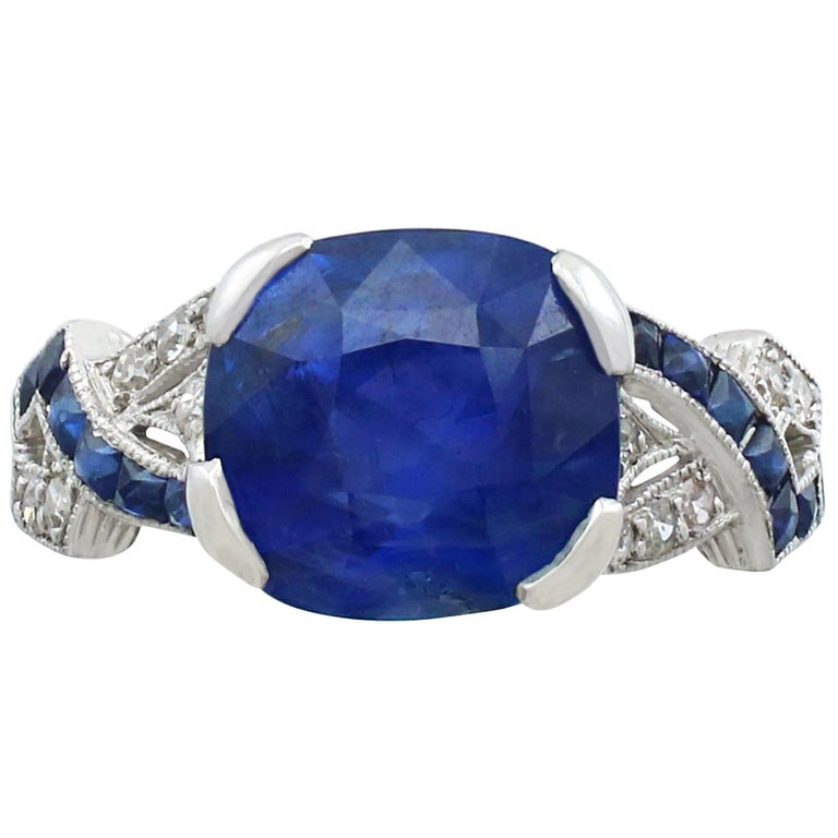 open blue style cocktail white gold basket wire product sapphire ring