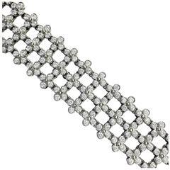 Tiffany & Co. Three-Row Diamond Platinum Lace Bracelet