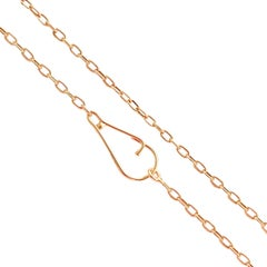 18 Karat Solid Yellow Gold Cable Link Chain Necklace