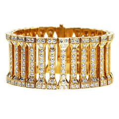 Cartier Diamond Gold Link Bracelet