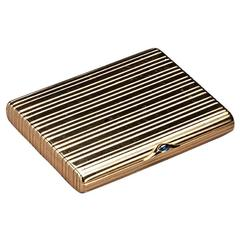 First Kievan Artel Gold Cigarette Case Fabergé Suppliers Circa 1900