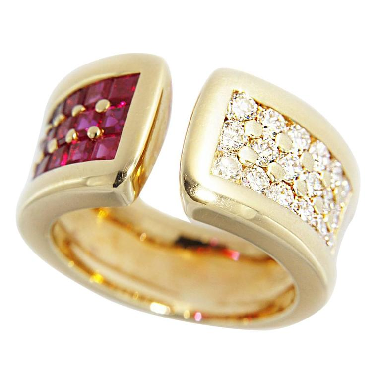 Jona Ruby Diamond Band Ring
