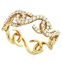 Jona Riccioli White Diamond 18 karat Yellow Gold Ring Band
