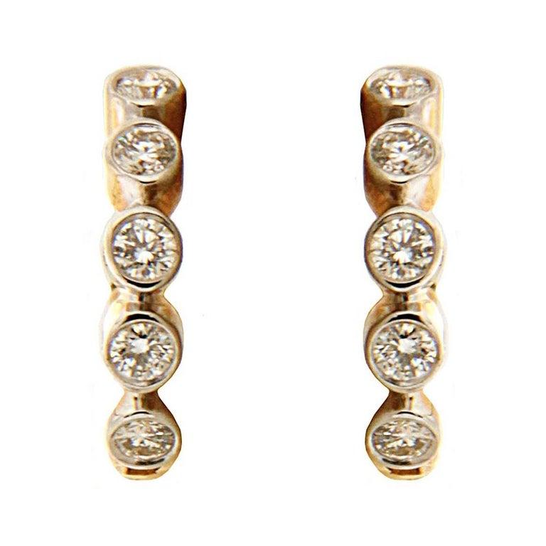 Valentin Magro Diamond Gold Hoop Earrings