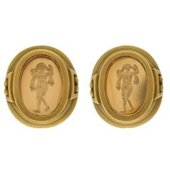 BARRY KIESELSTEIN-CORD Citrine Intaglio Earrings