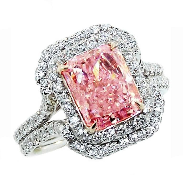 3 02 Carat Natural Pink Diamond Ring For Sale At 1stdibs