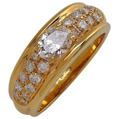 Boucheron Paris Yellow Gold Diamond Ring