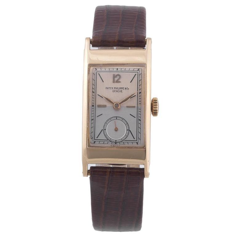 Patek Philippe Yellow Gold Rectangular Wristwatch Ref 425