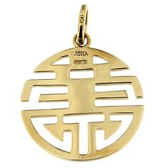 Jona Long and Happy Life Gold Pendant
