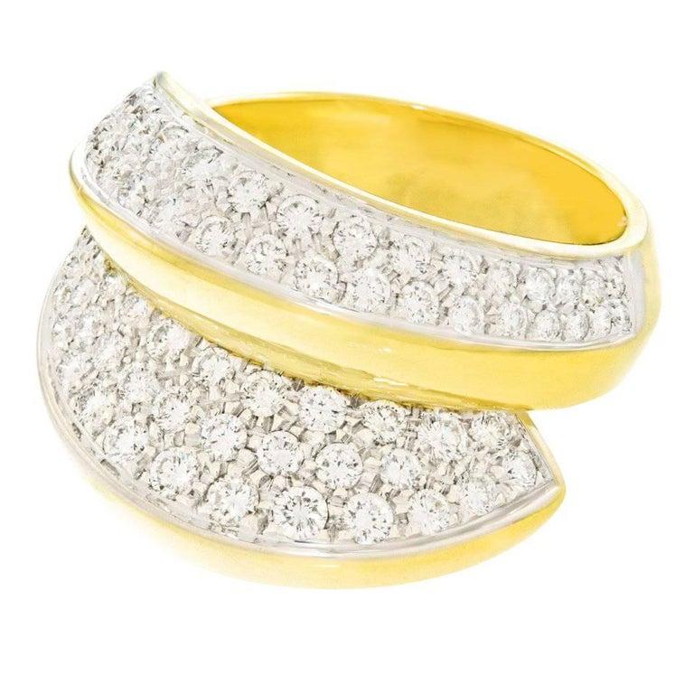 Damiani Diamond Set Gold Ring
