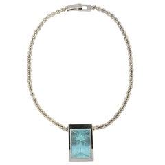 63.04 Carat Aquamarine Gold Necklace
