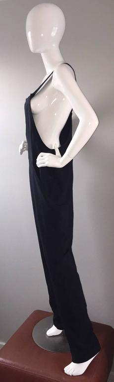 b3c61a0f2097 Rare Late 1990s 90s Tom Ford for Gucci Black Silk Jumpsuit w  Racerback NEW  For