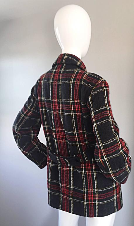 Vintage Isaac Mizrahi for Bergdorf Goodman Tartan Plaid Wool Jacket / Coat 3
