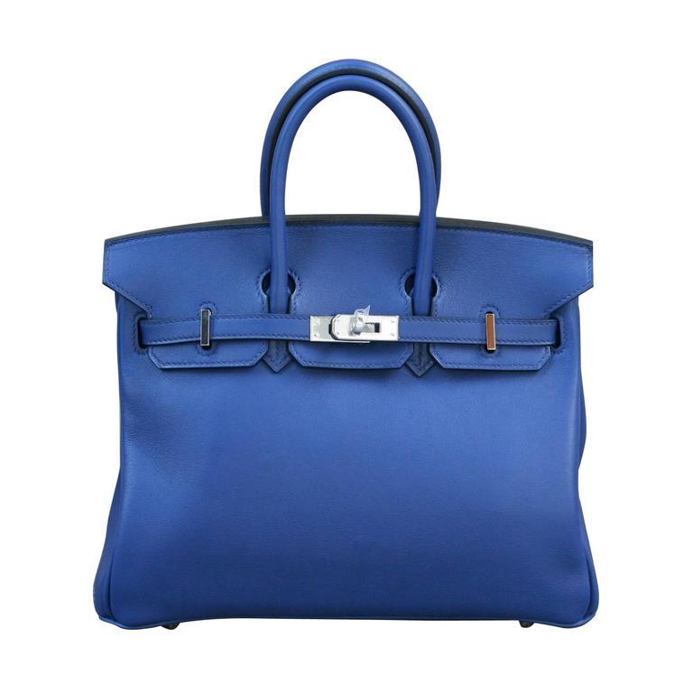 HERMES Birkin Swift sapphire blue 25'  1