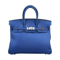 Blue Top Handle Bags