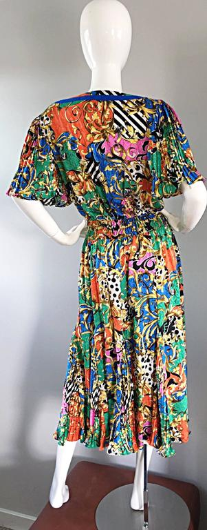 73ccaeb917 Amazing Vintage Diane Freis Psychedelic Colorful Bohemian Boho Dress For  Sale 2